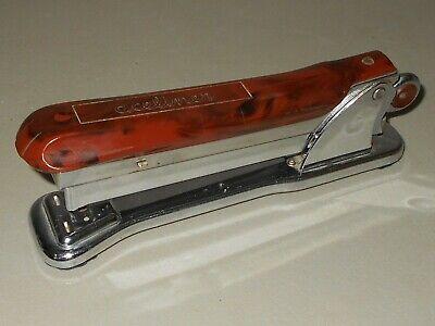 Aceliner By Ace No. 502 Vintage Heavy Metal Desk Stapler Chicago Usa Mad Men Mcm