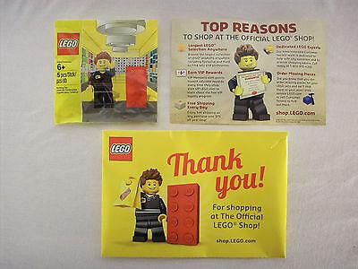 Lego Store Employee Minifigure Legoshop Com Exclusive 2013 Brand New Misb Rare