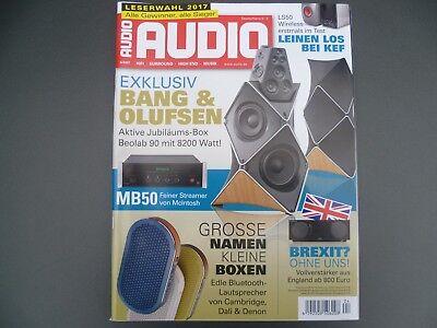 Zeitschrift Audio 4/2017 mit Test Technics SL-1200G, B&W 800 D3, B&O Beolab 90, gebraucht gebraucht kaufen  Kriftel