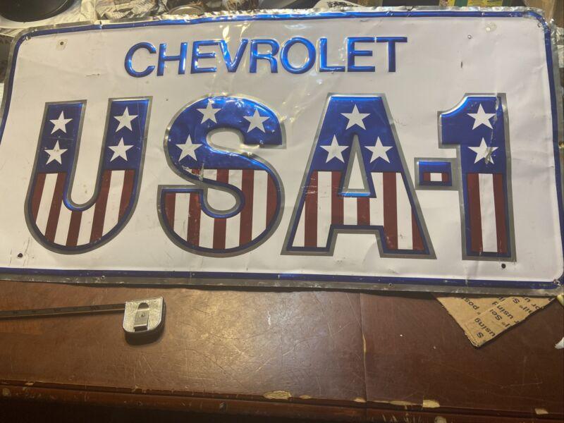 "Vintage 1980's Chevrolet Sign 35""W17""H"