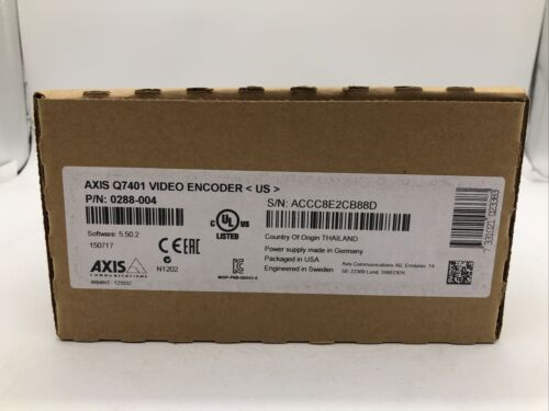 Axis Q7401 Video Encoder 0288-001-01 Overstock Inventory - NEW!!!