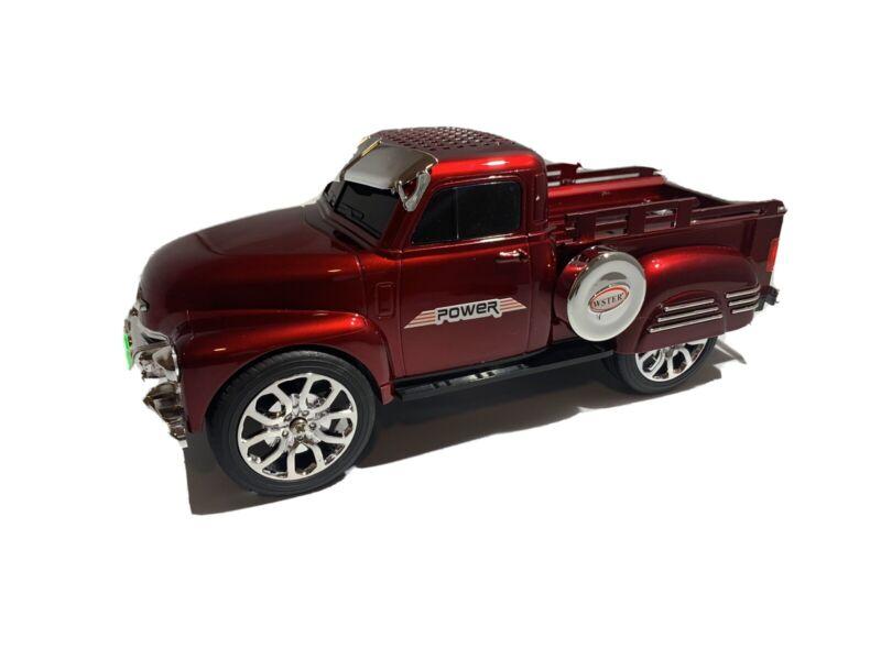 Red Loud Bluetooth Truck Speaker With FM Radio/Aux Inputs/USB Port/LED Lights.