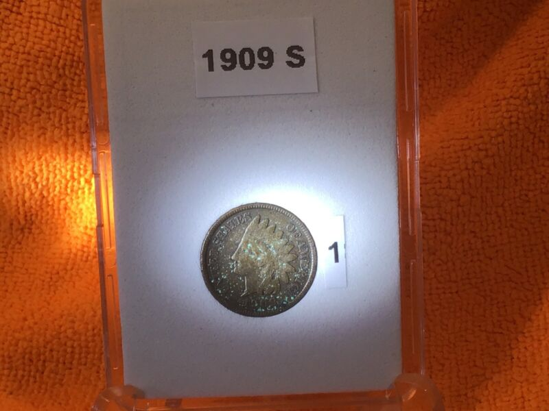 1909-S INDIAN HEAD PENNY VERY WEAK LIBERTY in BCW SLAB 2 AVAILABLE