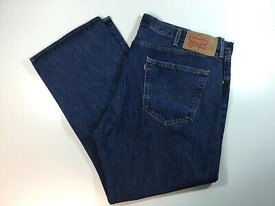 Levis 501 Men's Blue Jeans Straight Leg Button Fly 44x28 Actual (Tag 44x30)