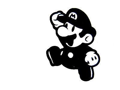 Super Mario vinyl car Decal / Sticker