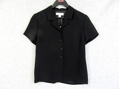 Casual Corner Suit Blazer Jacket Top Black Womens Size 6 NWT $98