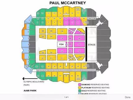 2x platinum paul mccartney tickets