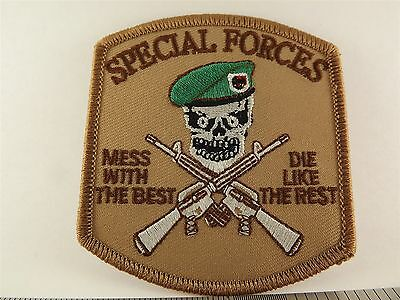 UNITED STATES Army Special Forces Mess With The Best Iron on Patch BRAND