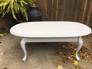 Chalk painted French Provincial coffee table