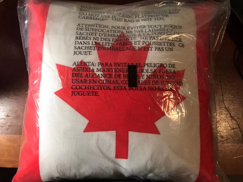 Canadian Flag Throw Pillow NEW