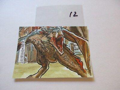 Game of Thrones Valyrian Steel Color Sketch Card by Dan Gorman - 12