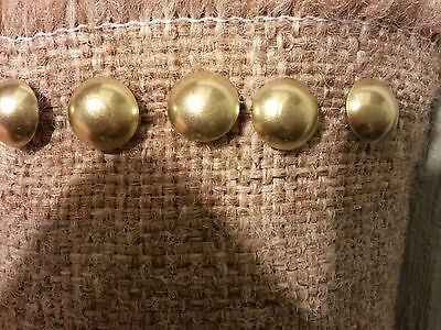 100 Brass Nails Upholstery Tacks Decorative Gilt Nail ( Made IN U.S.A.)