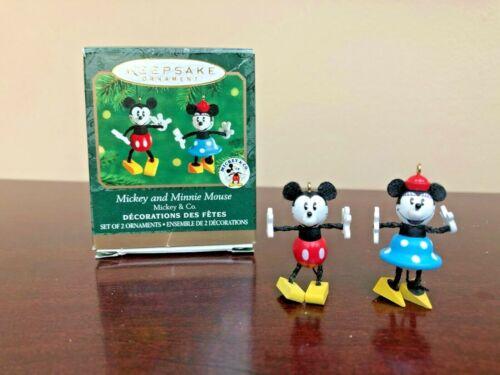 2000 Hallmark Miniature Ornament Mickey and Minnie Mouse