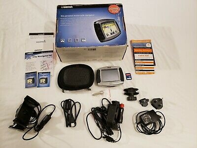 EUROPEAN GARMIN ZUMO 550 MOTORCYCLE/AUTO GPS BUNDLE, CORDS, MOUNTS, BOX, Etc 550 Motorcycle Mount