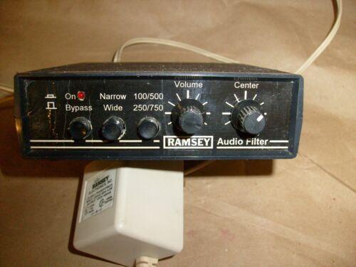 Ramsey AF-1 Ham Radio CW Audio Noise Filter w/ power supply