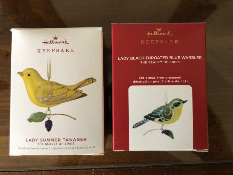 2 Hallmark Ornaments 2019 Lady Summer 2020 Lady Black-Throated Limited Editions
