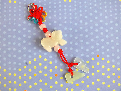 CHINESE JADE ZODIAC ANIMAL SIGN GOAT RAM SHEEP PENDANT CHARM BIRTHDAY PARTY Chinese Sheep Zodiac Pendant