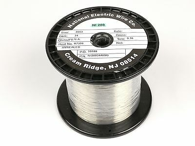 Pure Nickel Wire 34 Gauge 2.2 Lb 18400 Ft Non Resistance Awg Ni200 Nickel 200