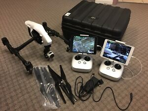 DJI Inspire 1 Camera Drone w/Dual Remotes and 2 iPad Mini 2's