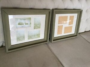 Two Rustic Wood Photo Frames