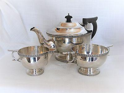 Beautiful, 3 Piece, Solid Silver Tea Set – Sheffield 1920 by Walker & Hall