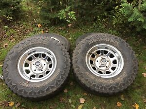 """15"""" American racing rims and tires"""