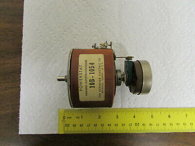 Superior Powerstat 10b-1054 Variable Transformer 2.25 Amps With Potentiometer