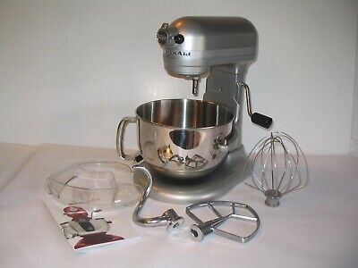 KitchenAid 6qt PRO 600 Series Stand Mixer w/Pour Shield Nickel Pearl KP26M1XNP
