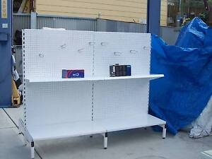 Shop shelving stands, double sided, workshop etc Moonah Glenorchy Area Preview