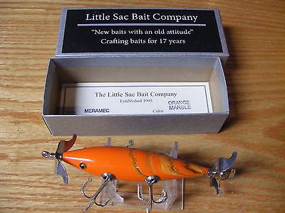 Little Sac Bait Co Meramec Minnow Glasseye Lure in Orange Marble Color NIB