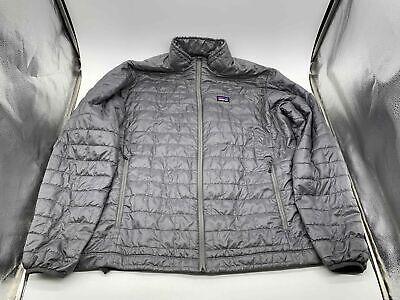 Patagonia Men's Grey Nano Puffer Jacket - Size XL