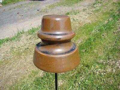 Lt brown porcelain insulator