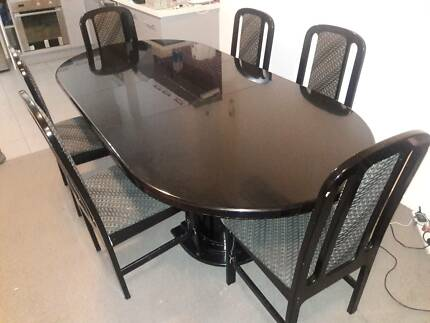 6 Seater Solid Wood Extendable Dining Table