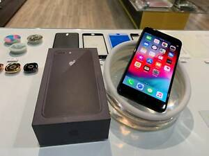 AS NEW IPHONE 8 PLUS 256GB BLACK WITH APPLE WARRANTY