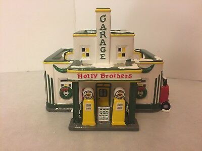 The Original Snow Village Department 56  Holly Brothers Garage  5485 4