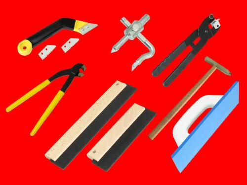 10-tlg Fliesenleger Set Fliesenzange Fliesenhammer Fugenkratzer Fugengummi uvm