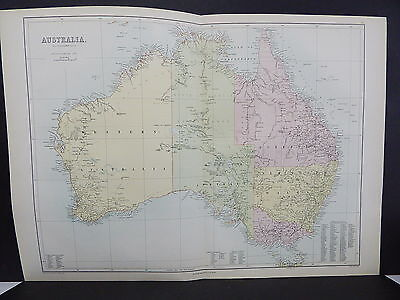 Black's 1876 Atlas, Australia, Double Page Map S9#3