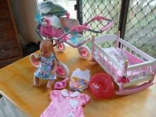 BABY BORN DOLL, PRAM, COT, POTTY AND CLOTHES Sinnamon Park Brisbane South West Preview