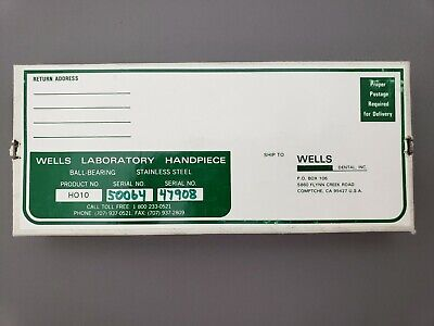 Wells Dental H010 Laboratory Handpiece With Wrist Joint