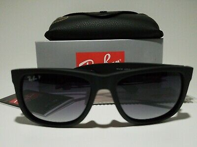 New Ray-Ban Justin Wayfarer POLARiZED RB4165 622/T3 Black/Grey Gradient (Ray Ban New Wayfarer 622)