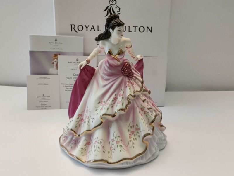 Royal Doulton Figurine of the Year 2009 Pretty Ladies GRACE HN 5248 Bone China