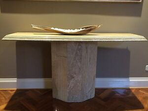 Marble travertine console table Patterson Lakes Kingston Area Preview