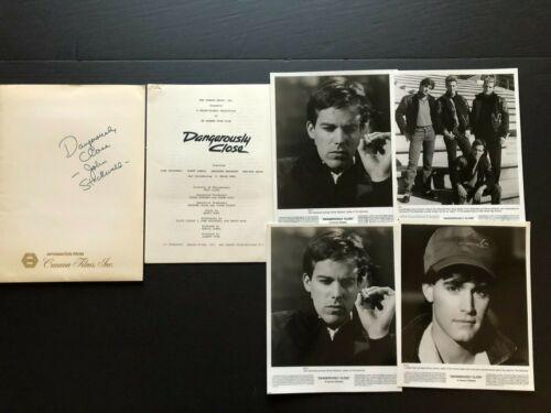 Dangerously Close (1986) - Press Kit Envelope w/Photos & Press Notes
