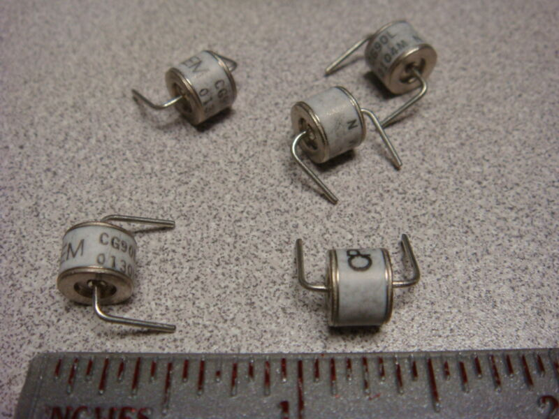 (5) CG90L CG-90L CPC CP CLARE GAS DISCHARGE TUBES ARRESTOR GDT 90V RIGHT ANGLE