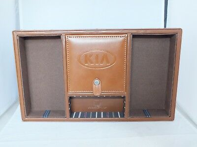 Cutter & Buck Executive Office Valet and Charging Station Leather Tray KIA Logo