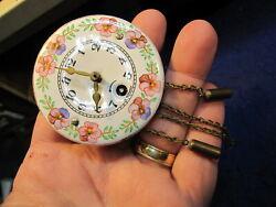 Wintermantle Germany Pendulette porcelain front miniature wall clock