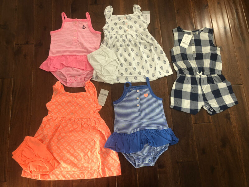 5 Piece Lot Of Baby Girl Summer Clothes Size 12 Months Nwt