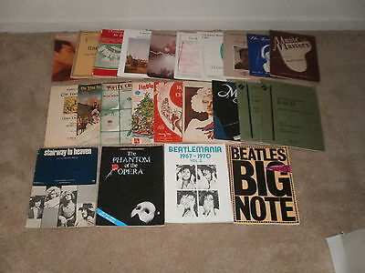 LOT OF 23 SHEET MUSIC (SONG BOOKS) PIANO MOST ARE VINTAGE  on Rummage