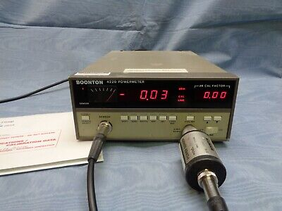Rf Power Meter Boonton 4220 With Matching Sensor