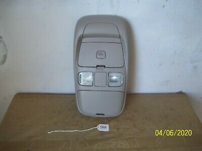 98-01 Dodge Ram Pickup Truck Overhead Console Housing w/ Lamps  Grey Gray
